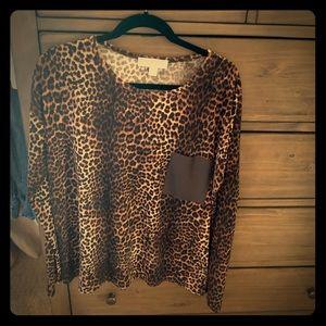 Michael Kors leopard blouse size XL